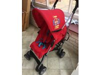 Child's Red Jubilee Stroller complete with rainwear