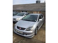 2004 Honda Civic type R, facelift, MOT until April 2017, 6 speed.