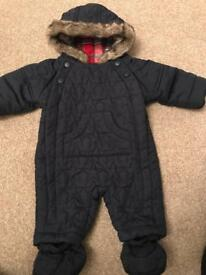 Marks and Spencer's baby all in one snowsuit 0-3 months