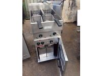 VALENTINE COMMERCIAL ELECTRIC FRYER TWIN TANK FOR HOTEL RESTAURANT TAKEAWAY CAFE CANTEEN PUB