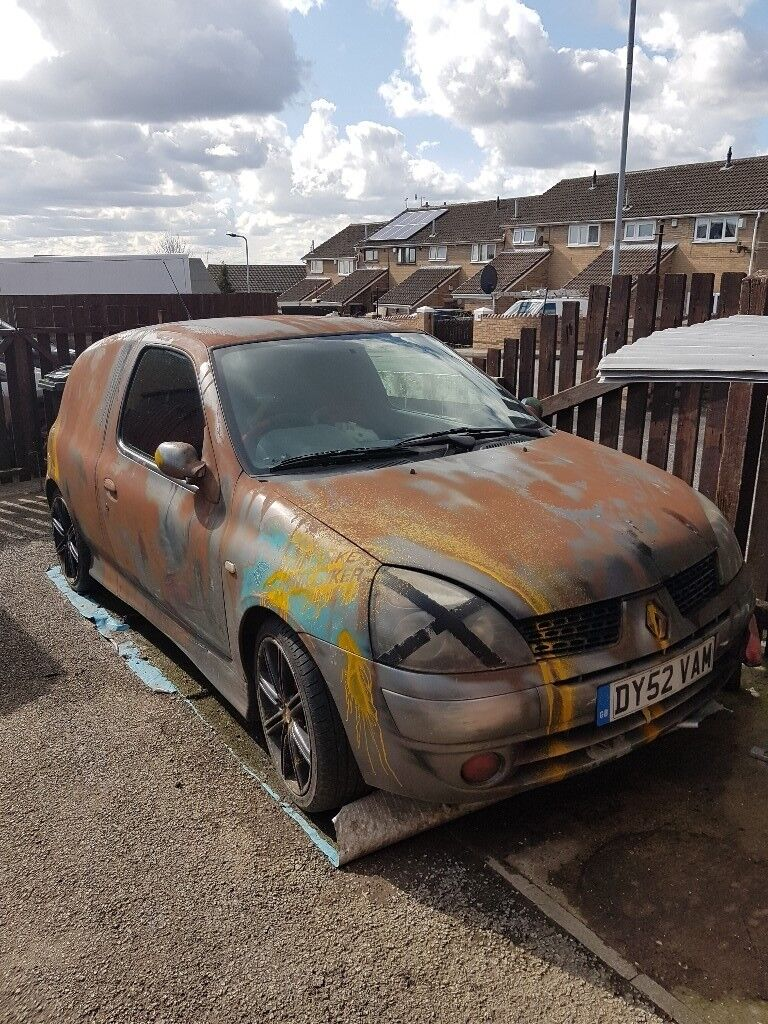 Renault Clio Van Custom Paint Rat Look In Hoyland