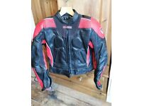 Ladies Leather Frank Thomas Motorcycle Jacket - size 12 / Eur 38 - never warn