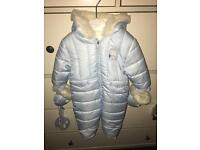 Mayoral baby blue snowsuit