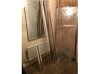 800 x 800 Pivot Hinge 6mm Glass Shower Enclosure Reversible Cubicle Door Side