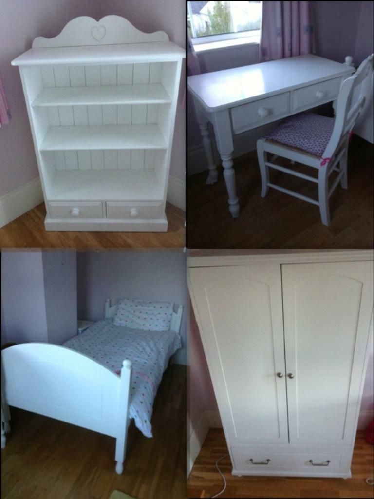 Https Www Gumtree Com P Baby Cots Beds Girls White Wooden Bedroom Furniture 1083005344