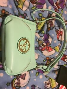 Blue/green leather purse