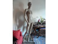 Full body mannequin, female, free wig, shop window display