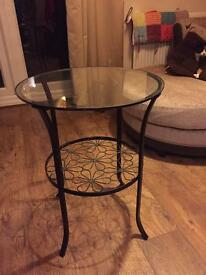 Ikea glass top side table