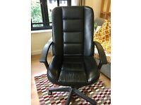 Black rotating office chair