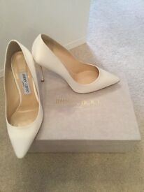 Brand new white jimmy choo heels