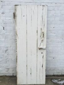 Old Painted Pine 3 plank ledge door (1870) 73 cm w x 193 cm h