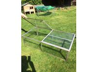 Glass garden cold frame 4ft x 2ft greenhouse