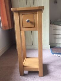 Small Waverley Oak side/telephone table only weeks old and barely used
