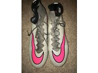 Nike Mercurial Superfly, Greg with Pink tick. Size 8