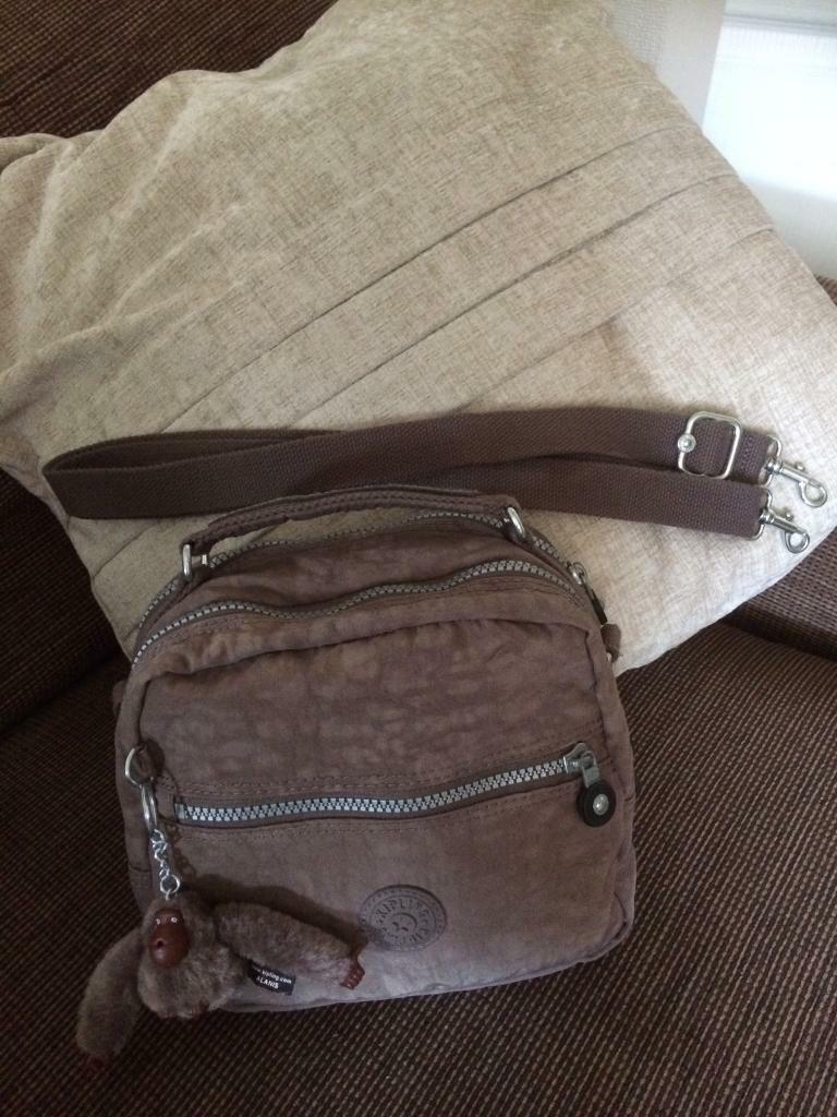 Kipling New Candy Handbag With Removable Shoulder Strap Convertible To Backpack Monkey Brown