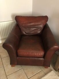 Marks & Spencer Leather Abbey Armchair Dark Brown
