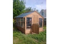 Top Quality Wooden Greenhouses Delivered set up anywhere Northern Ireland (Garden Shed green house)