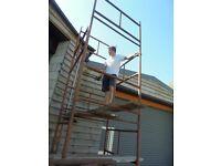 Sectional steel scaffolding