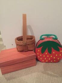 Storage boxes £3 for all 3