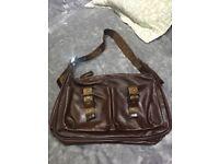 Brown Leather Longchamp Bag