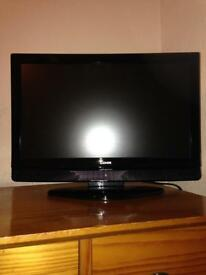 Small flat screen tv and built DVD player