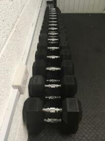 Body Power 1-30Kg Rubber Hex Dumbbell Weight Set 18 Pairs 450kg