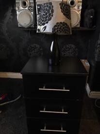 Bed side cabinet draw with lamp