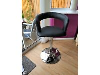NEW 2 x bar chairs stools black leather look
