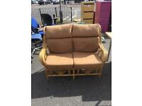 2 seater wicker conservatory chair