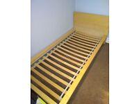 IKEA single bed frame (mattress optional)
