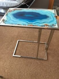 Two glass topped occasions/side tables