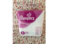 Pampers nappies size 6