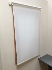 White Fabric Roller Blind