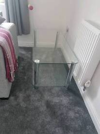 glass tv stand coffee table