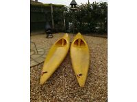 A pair of 12ft canoes/ kayaks