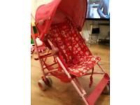 Single buggy/ pram pink