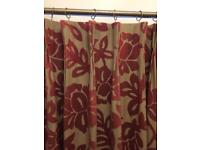 Laura Ashley Ellington Cranberry Curtains