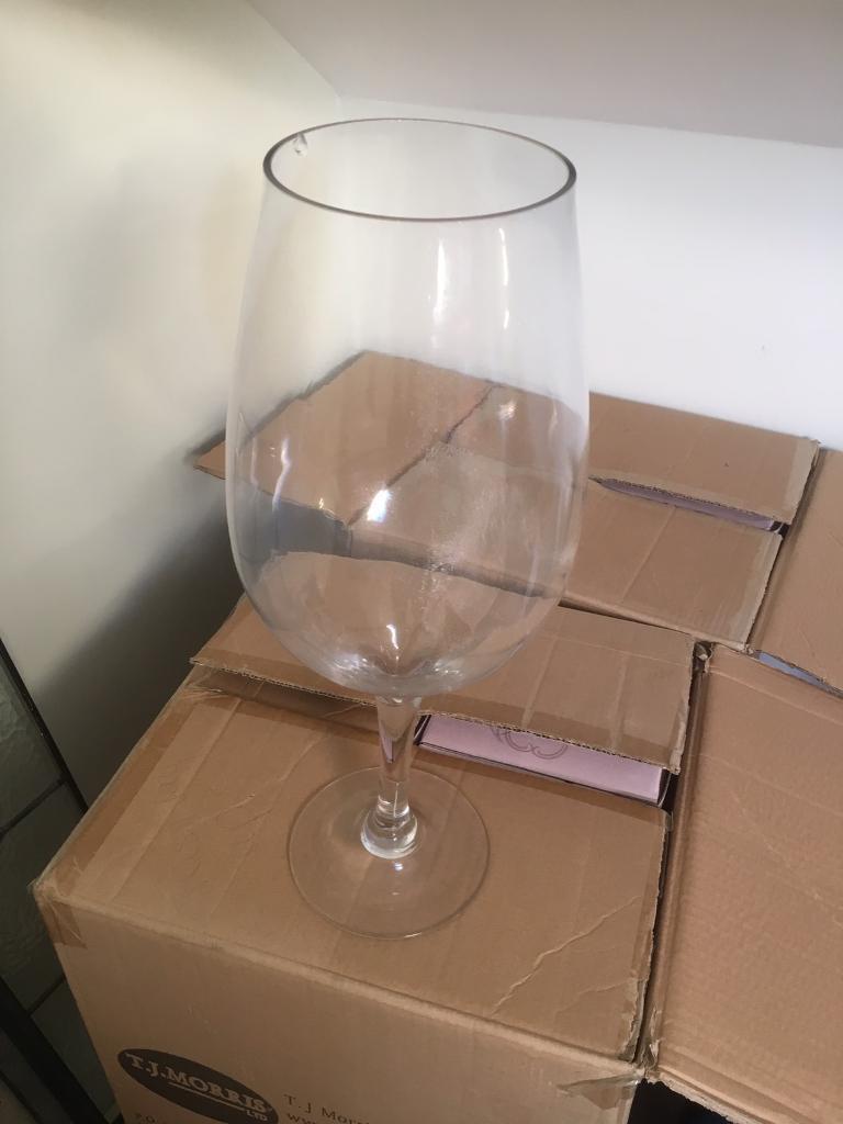 8 X Giant Wine Glasses Wedding Centrepiece In Swansea Gumtree