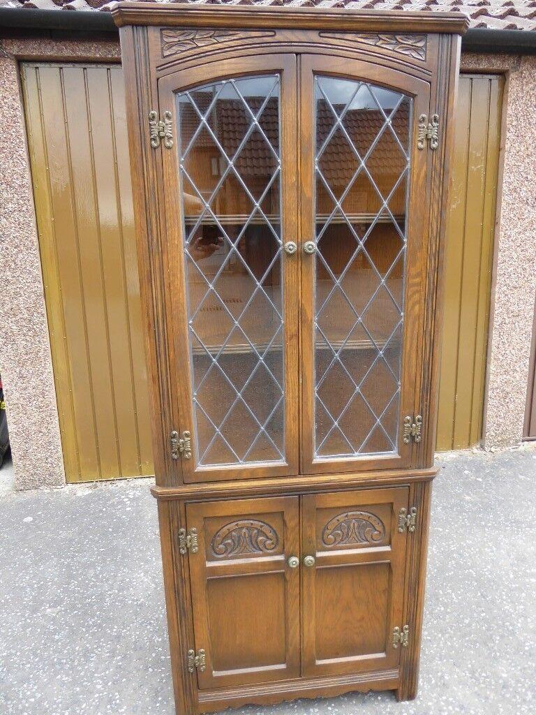 Old Charm Light Oak Corner Cabinet In Warley Es Gumtree