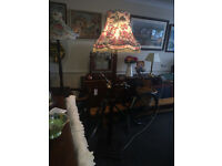 Fabulous Vintage Solid Mahogany Traditional Standard Lamp