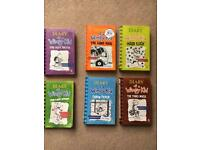 6 Diary of a Wimpy Kid books
