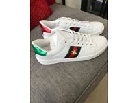 Gucci bee trainers size 8