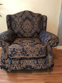 Large wingback armchair. Immaculate condition