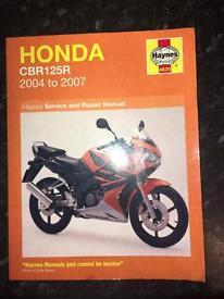 honda cbr125r service and repair manual