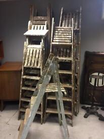 Vintage painters ladders
