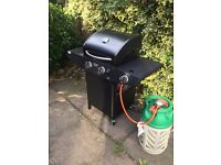 Home base brand 2 hob Gas BBQ 1 year old good condition-includes some gas