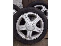 """16"""" alloy wheels tyres hyundia"""