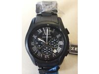 """Men's watch """"Zeitner"""" black watch brand new with tags"""