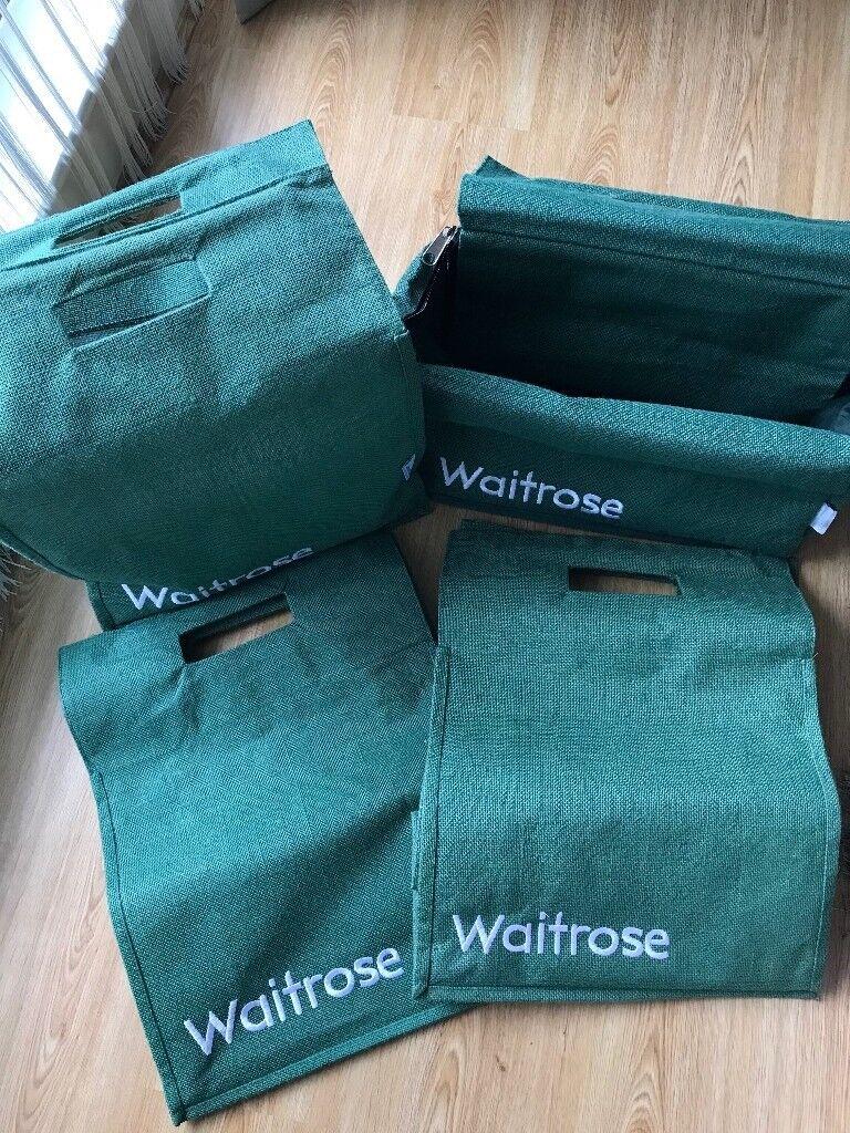 Waitrose Strong Hessian Fabric Jute Bag Set In London