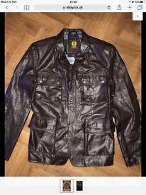 Belstaff leather jacket.